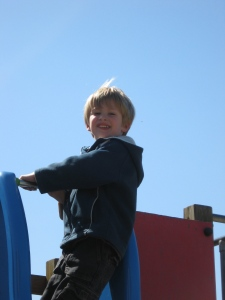Bjornar in the playground