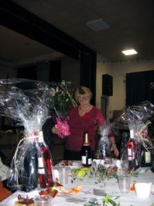 Prizes pile up at the choir's table!