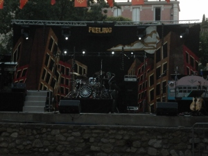 Stage for the band FEELING!