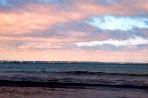 April: Sunset at Saint Malo