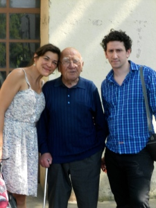 Sophie, her grandfather and her boyfriend