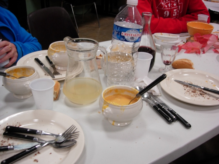 The soup disappeared quickly!