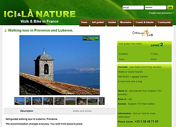walking tour in Provence and Lubéron