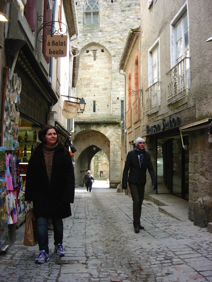 Walking along the central path inside the fortified city