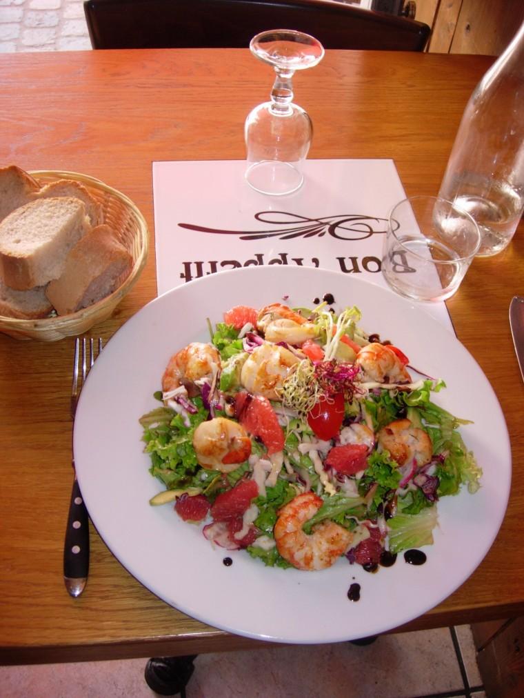 Noix des Saint-Jacques Salade