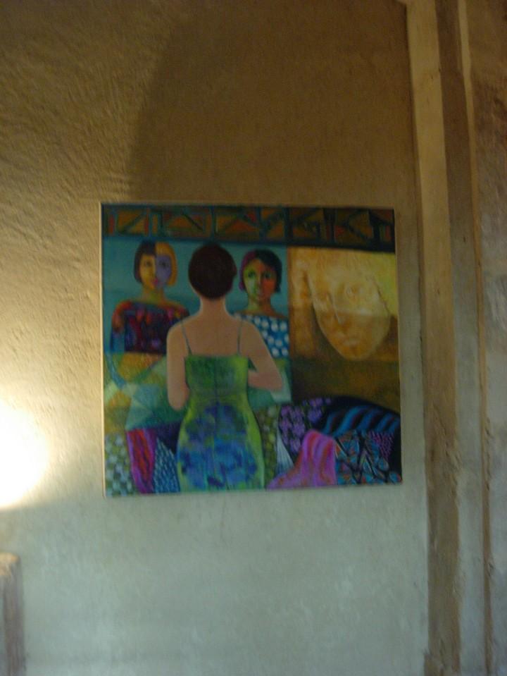 Une femme et un miroir