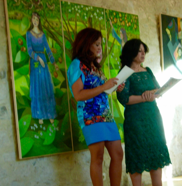 The artist (R) and her daughter (L)